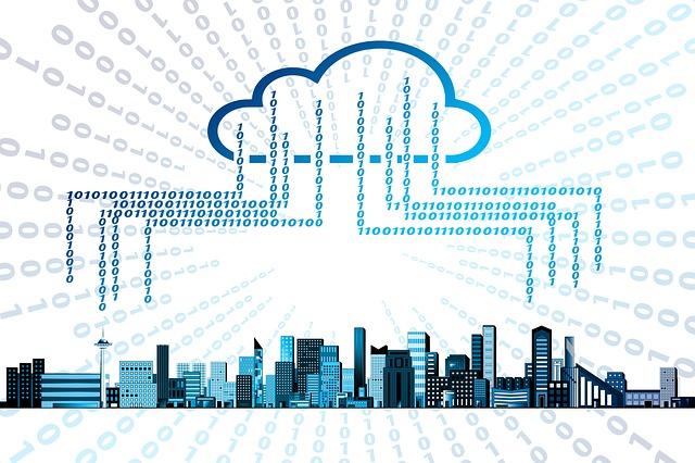 grafische Darstellung eines Cloud Speichers